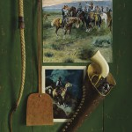 "William Acheff, All My Friends had Horses, 36"" x 18"", Oil"