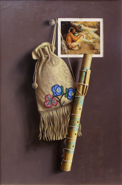 William Acheff, Flute Spirit, oil, 24 x 16, Nedra Matteucci Galleries.