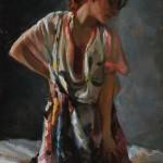 Johanna Harmon, Afterglow, oil, 22 x 16.