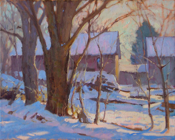 J. Chris Morel | Afternoon Light, oil, 11 x 14.