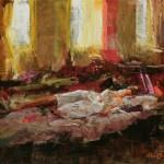 Ron Barsano, Afternoon Nap, oil, 16 x 20.
