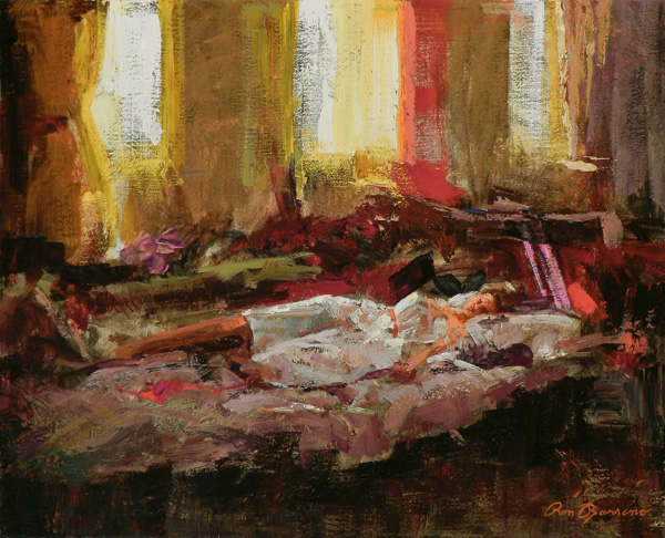 Ron Barsano, Afternoon Nap, oil, 16 x 20.