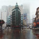 Jonathan Ahn, The Sentinel, oil, 48 x 48.