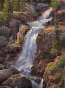 Jason Sacran, Alberta Falls, oil, 16 x 12.