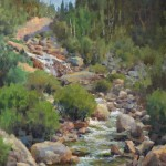 Jason Sacran, Alluvial Fan, oil, 20 x 16.