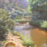 Tom Blazier, Along the Pecos, oil, 12 x 9.