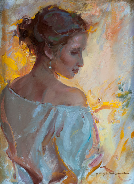 Daniel Gerhartz, Amber Light, oil, 16 x 12.