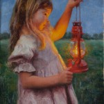 Amy Karnes, By Lantern Light, oil, 18 x 14.