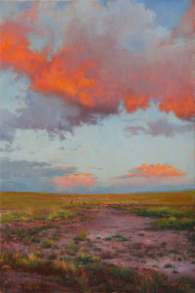 Amy Karnes, September Sunset, oil, 36 x 24.