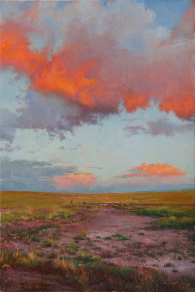 Amy Karnes, September Sunset, oil, 36 x 24.