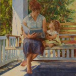 Amy Karnes, Stories on the Porch Swing, oil, 30 x 24.