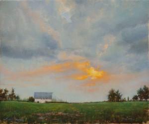 Amy Karnes, Western Paradise, oil, 20 x 24.