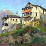 Anastasia Dukhanina, Village Varchignoli, oil, 20 x 28.