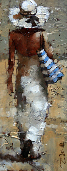 Andre Kohn, The Day Off #2, oil, 15 x 6.