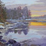 Ann Self, Back River Sunset, oil, 16 x 20.