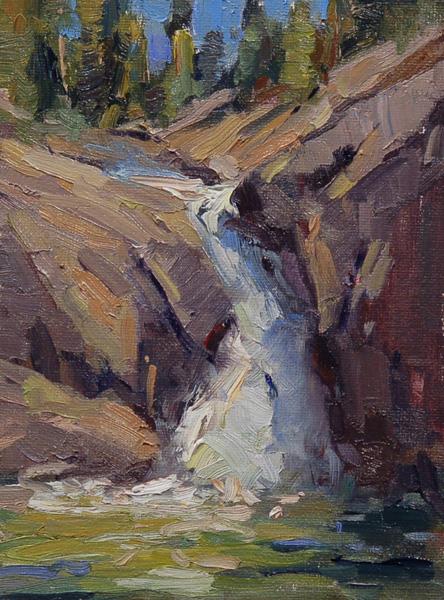 Ann Larsen, Bear Falls, oil, 8 x 6.