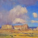 Ann Larsen, Dry Rain, oil, 12 x 16.