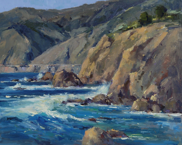 Ann Larsen, Glorious California, oil, 16 x 20.
