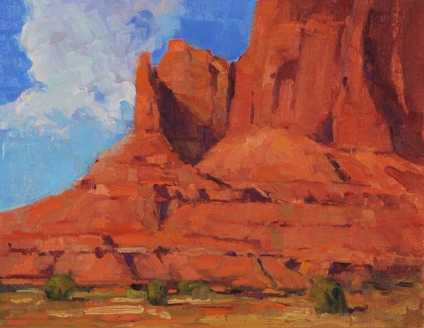 Ann Larsen, Wind Carved, oil, 11 x 14.