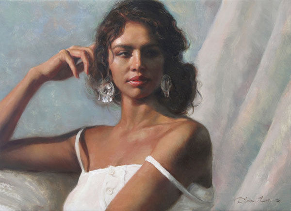 Anna Rose Bain, California Beauty, oil, 16 x 22.