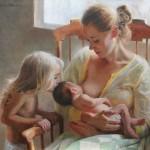 Anna Rose Bain, Nurturer, oil, 24 x 30.