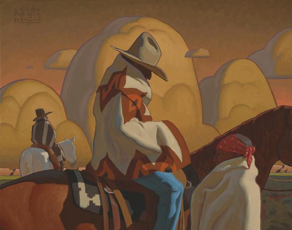 Logan Maxwell Hagege, Arid Lands, oil, 16 x 20.