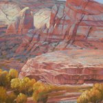 Arlene Braithwaite, Fall at the Reef, pastel, 24 x 20.