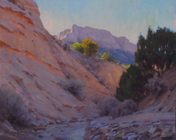 J. Chris Morel | Arroyo Morning, oil, 16 x 20.
