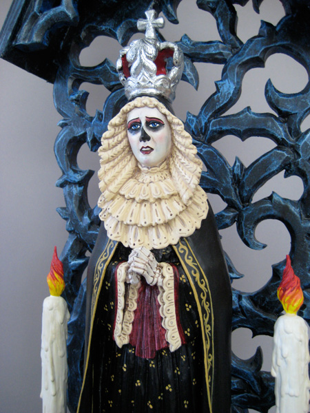Arthur Lopez, Reina de la Muerte (detail), wood/mixed media