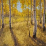 Aspen Shadows, oil, 18 x 24.