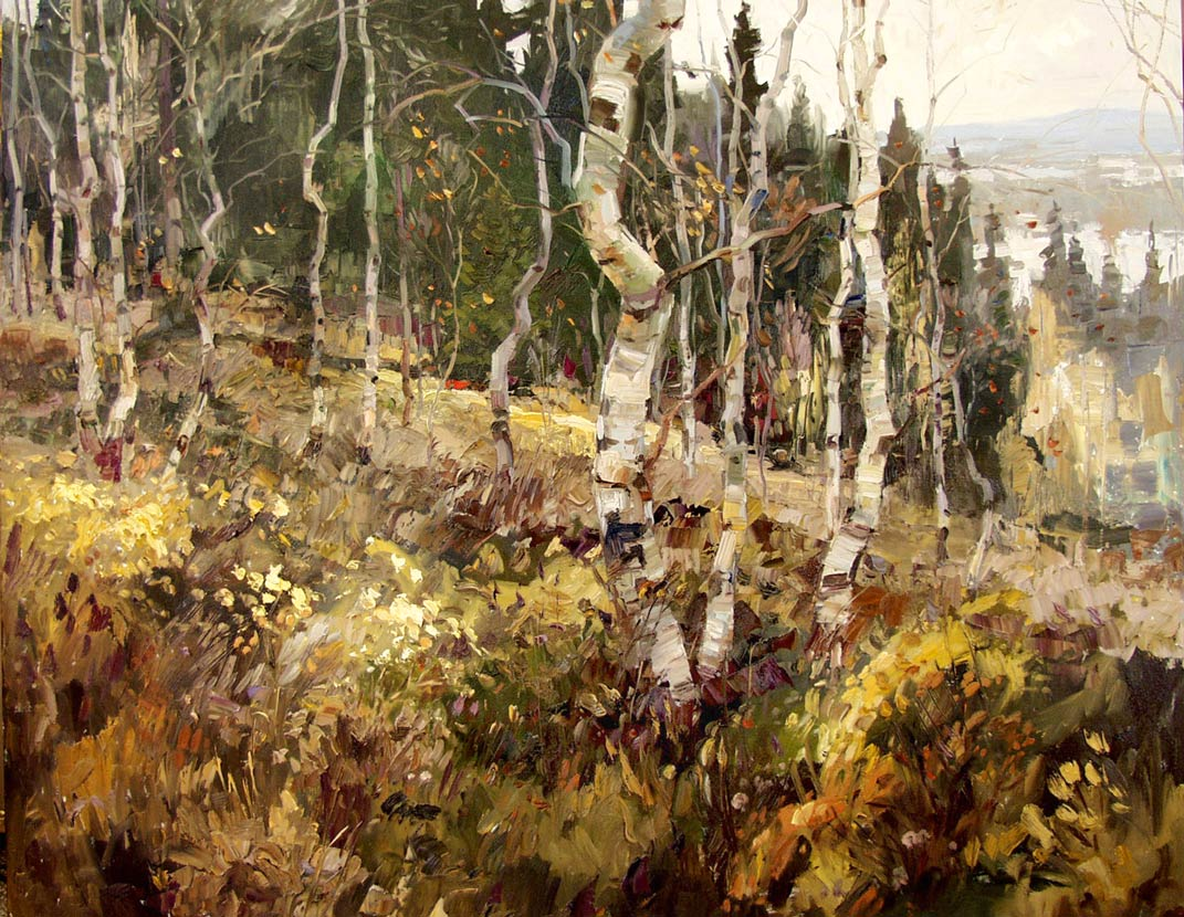 Robert Moore | Aspen Vista, oil, 48 x 60.