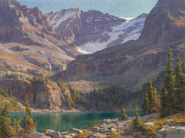Clyde Aspevig, Lake O'Hara, oil, 30 x 40, from Artistic Horizons.