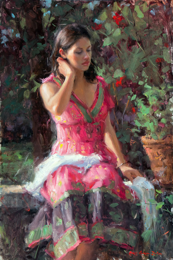 Bryce Cameron Liston, August Afternoon, oil, 24 x 16.