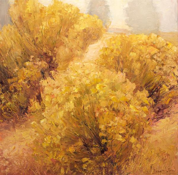 Matthew Higginbotham, Autumn Gems, oil, 24 x 24.