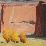 G. Russell Case, Autumn Hogan, oil, 16 x 20.