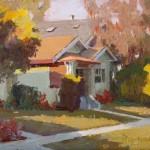 Camille Przewodek, Autumn Morning, oil, 8 x 10.