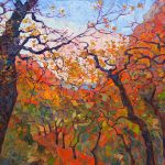Erin Hanson, Autumn Tapestries, oil, 50 x 40.