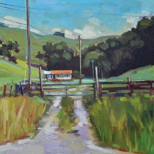 Samantha Buller, Hicks Valley, oil, 20 x 20.