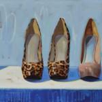 Samantha Buller, Soulmates, oil, 30 x 72.