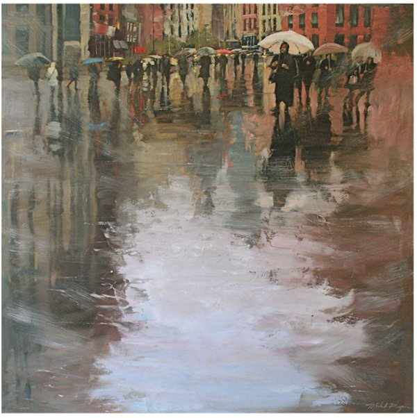 Rainy City Sidewalks by Michele Byrne