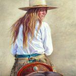 Ann Hanson, Back at Ya, oil, 14 x 11.