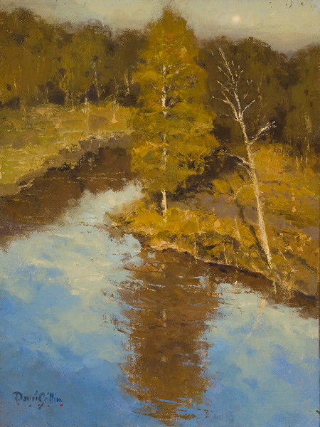 David Griffin, Back Country, oil, 12 x 9.