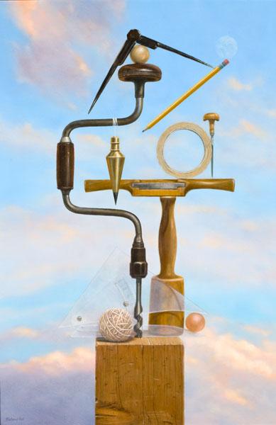 Balancing Act, oil, 24 x 36.