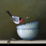 Sarah Siltala, Balancing Act, oil, 12 x 12.
