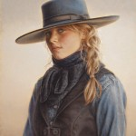 Carrie L. Ballantyne, Wyoming Blue Eyes, oil, 15 x 12.