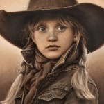 Carrie Ballantyne, California Cowgirl, oil, 8 x 10.