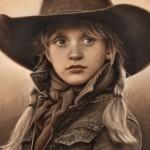 Carrie Ballantyne, California Cowgirl, oil, 8 x 10.