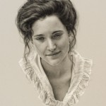 Carrie Ballantyne, Grace and Beauty, colored pencil, 18 x 14.