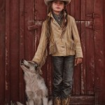 Carrie Ballantyne, Reata and the Ranch Pup, oil, 19 x 13.