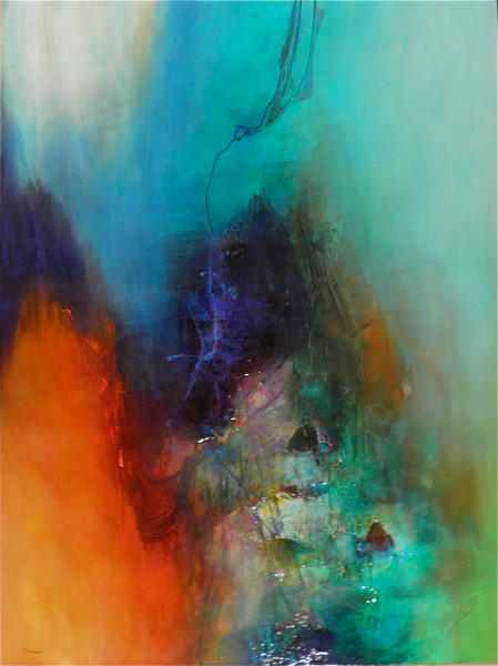 Javier Lopez Barbosa, Epiphany, mixed media, 40 x 30.